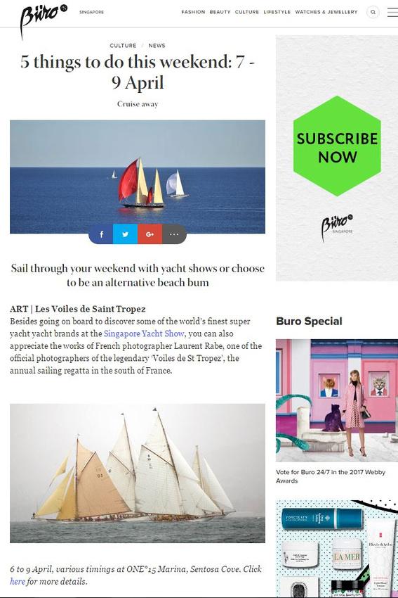 Article presse Singapour Yacht Show
